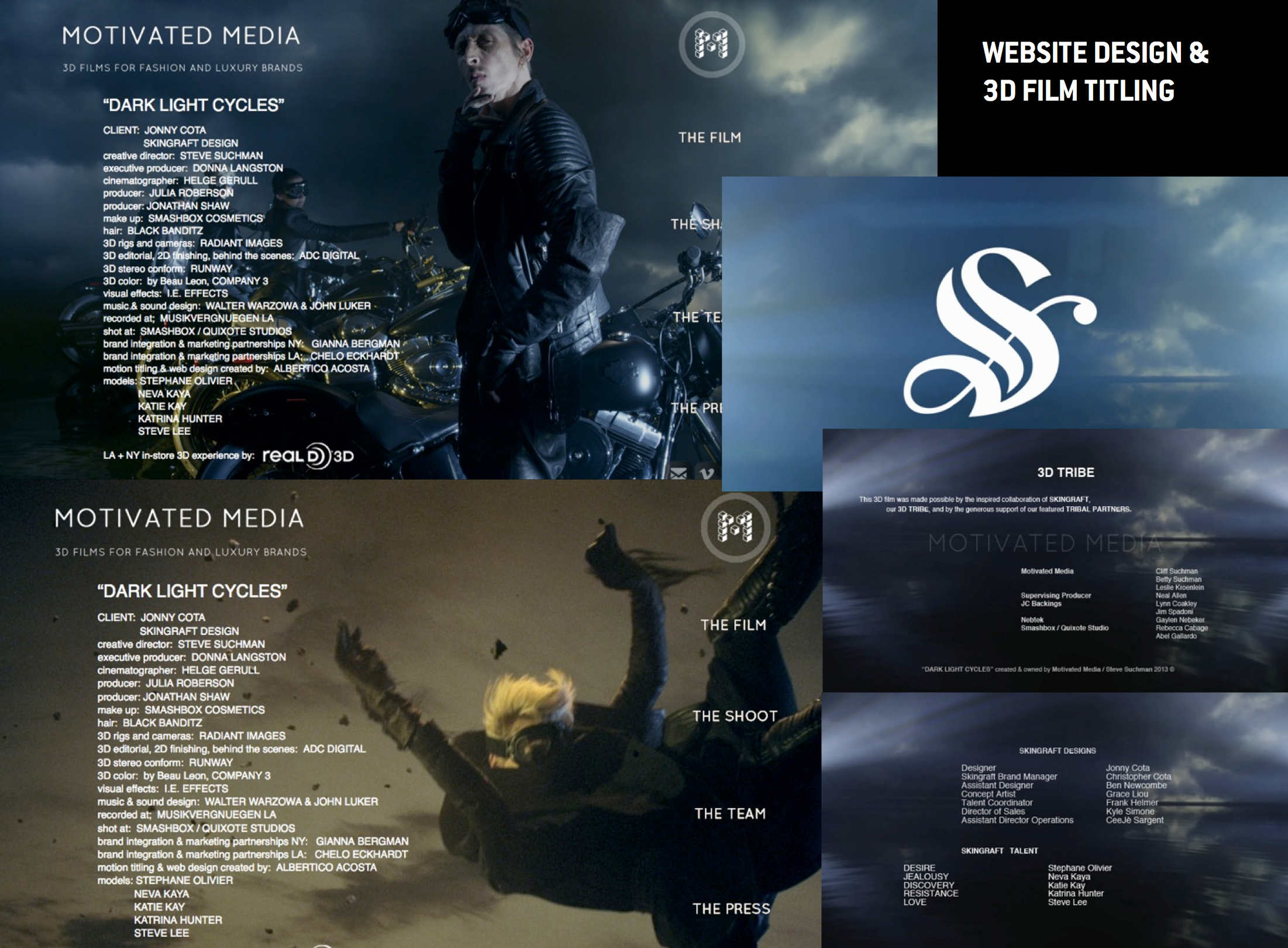 DARK LIGHT CYCLES- Skingraft  3D Titling and Website