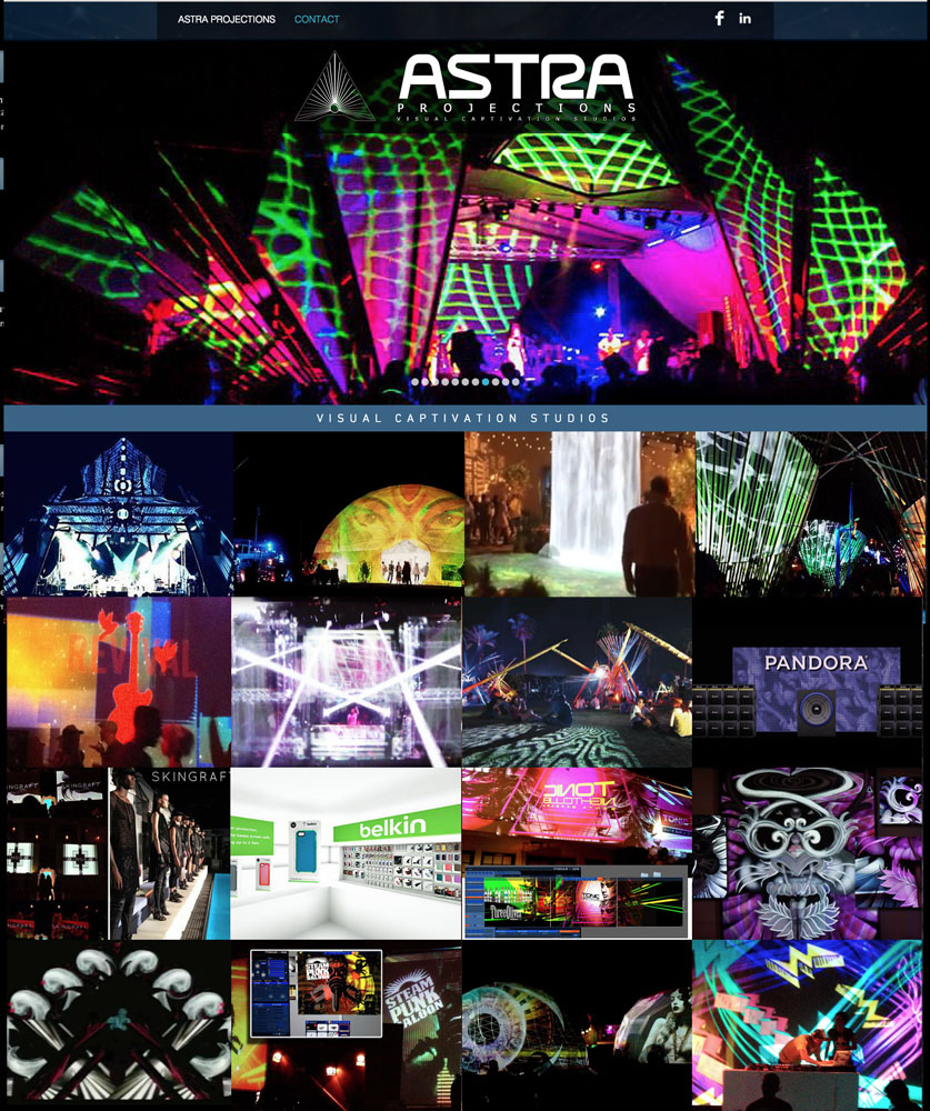 ASTRA Projections – Web Design