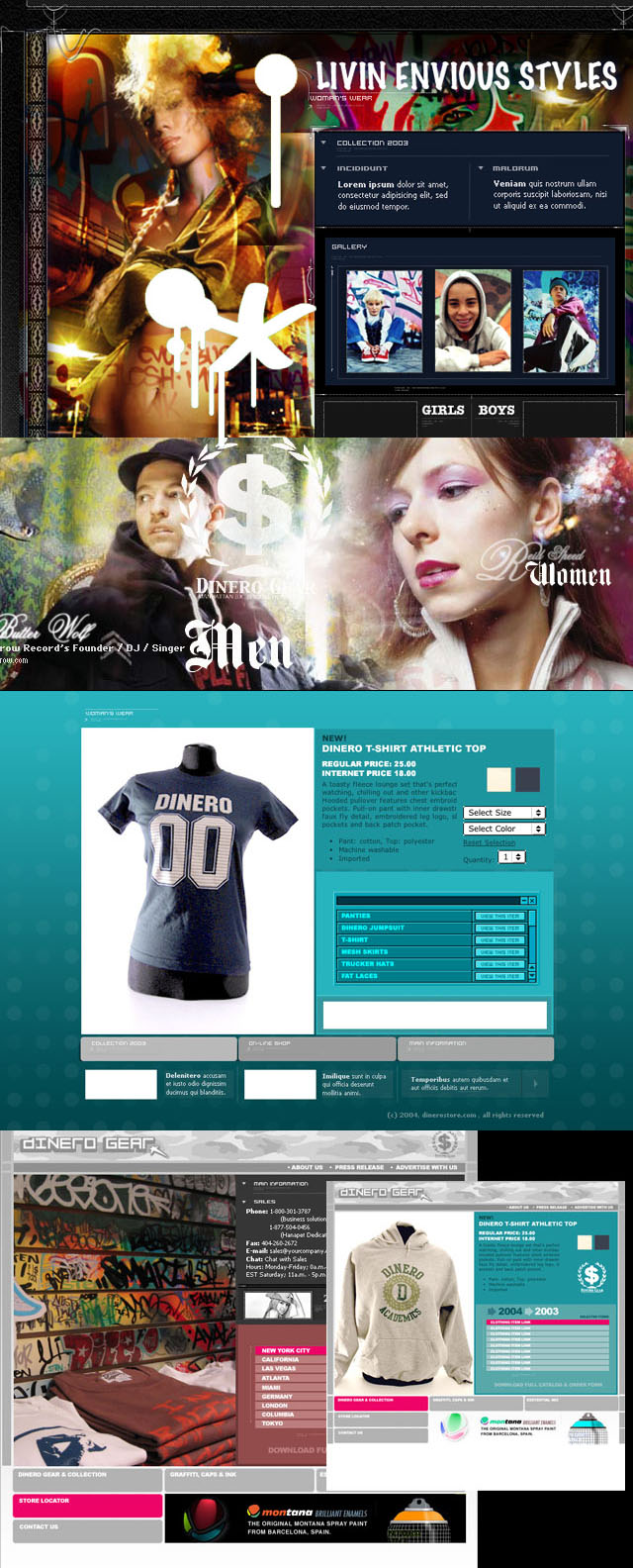 Dinero Store – Lower East Side Hip Hop store- Brand & Web Design