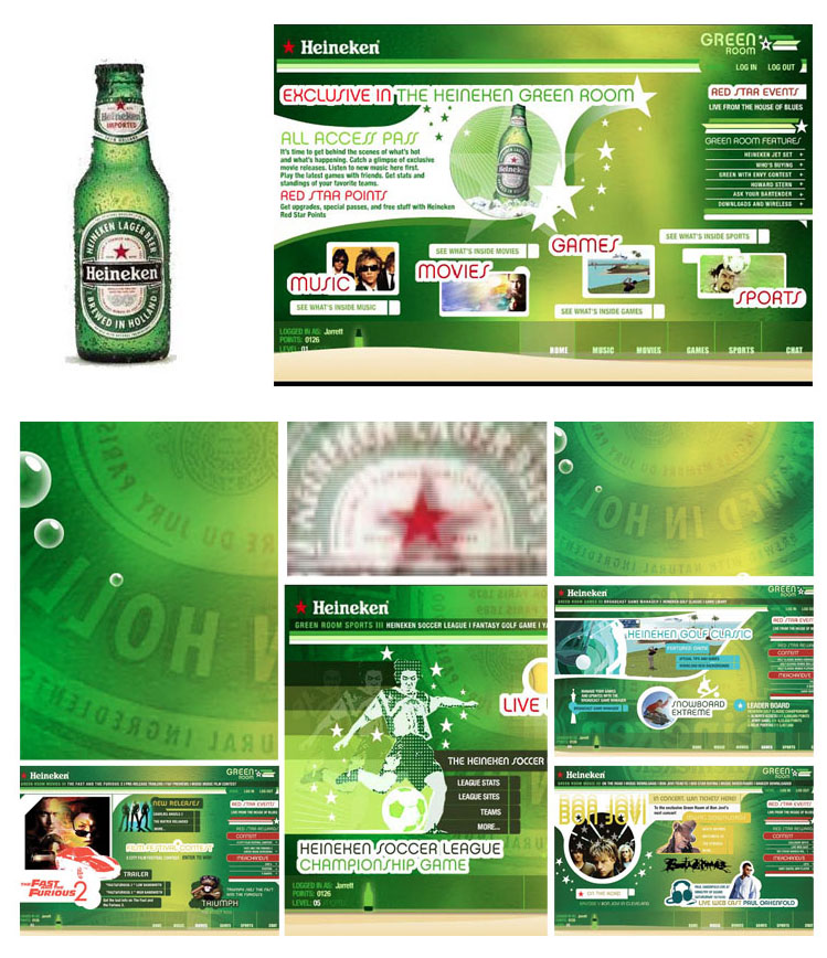 Heineken Flash Promo Design and Animation