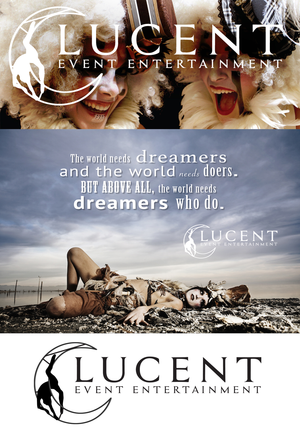 Lucent Dossier Event Division- Logo Design & Marketing Materials