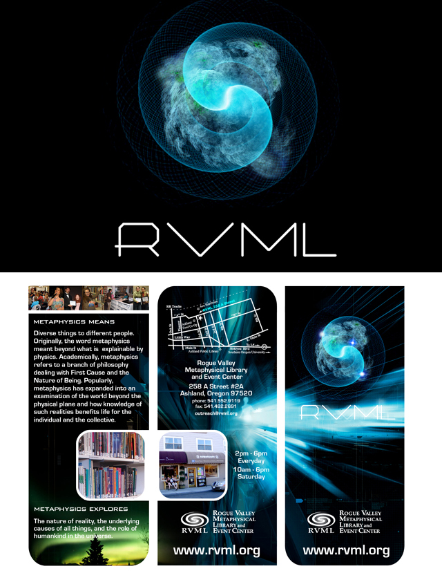 RVML Metaphysical Library – Logo & Brochure