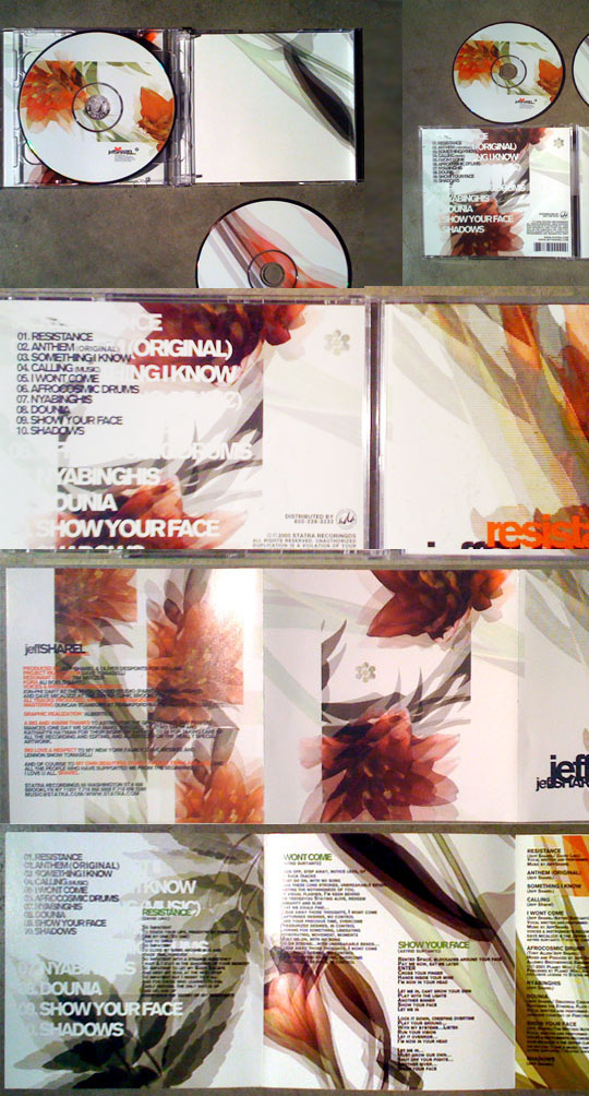 Jeff Sharel – CD Package Design