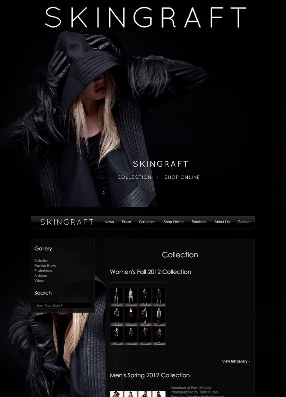 SKINGRAFT – Website Design