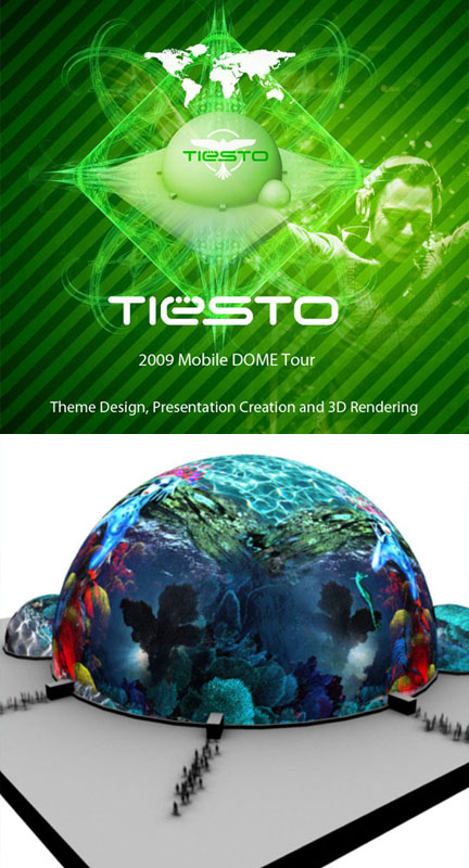 Tiesto Theme Graphic – Dome Tour